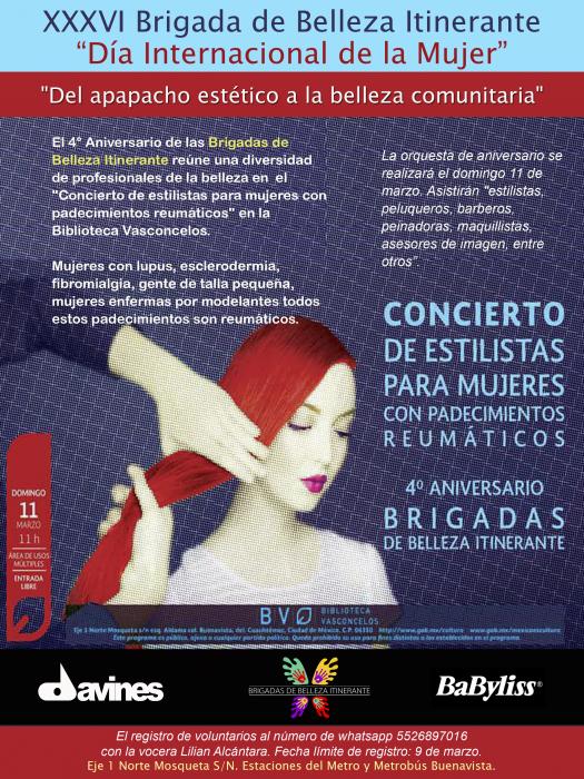 BBI XXXVI. Concierto de Estilistas para Mujeres con padecimientos reumáticos